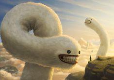 Fuzzy Cloud Worms by AndrewMcIntoshArt on DeviantArt