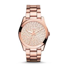 Fossil Perfect Boyfriend Three-Hand Stainless Steel Watch - Rose| FOSSIL® Watches