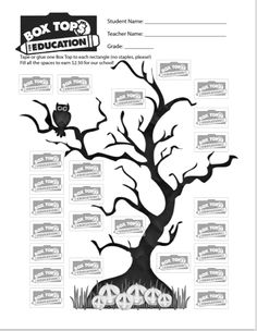Free collection sheets for Halloween and Fall.