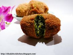 Italian Finger Food  Recipes...Crocchette ricotta e spinaci