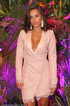 Georgia May Foote goes braless as she shows off her cleavage at bash Georgia May Foote Instagram, Georgia Mae, Tuxedo Dress, Brunette Beauty, Beautiful Actresses, Sexy Outfits, Casual Dresses, Sexy Women, Celebs