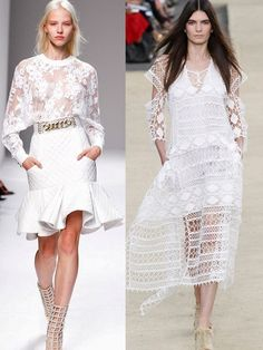Paris Fashion Week Breaking Trends Spring 2014: White Lace | Accessories