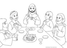 Risultati immagini per ultima cena da colorare