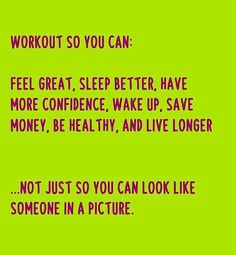 Workout so you can.