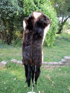 Vintage Mink Fur Full Body Stole Shawl Collar with tails Natural Taxidermy by Holliezhobbiez on Etsy