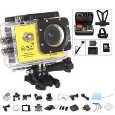 "43.35$  Buy here - Youe shone Action Camera Wifi 2.0""Screen Full 1080P HD sport DV camera  Go camera pro style+extra batteries+monopod +32GB TFcard   #SHOPPING"