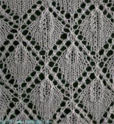 Leaf Lace 6 - Knittingfool Stitch Detail