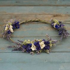 provence dried flower hair circlet by the artisan dried flower company | notonthehighstreet.com