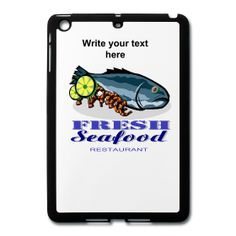 Seafood Restaurant Mini iPad Case from PersonalizedSouvenirs.com.