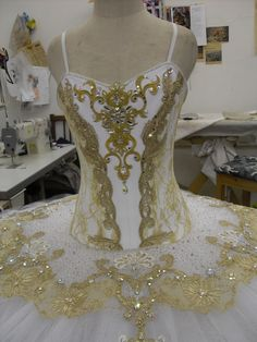 Creating Masha's tutu for Great Russian Nutcracker by hand in St Petersburg