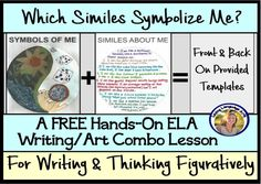 Free lesson with templates here or you can get the more thorough version, including Google Slides for distance learning, in my store. Either way, this gets reluctant students, grades 4-9, to write happily about themselves using similes and then turning those into art (optional) to represent themselves symbolically. This figurative language activity is great for back to school getting to know each other and getting them to like your class. Middle School Ela, End Of School Year, Teaching Language Arts, Simile, Blended Learning, Learning Resources, How To Memorize Things, Distance, Activities