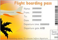 Editable Airline Tickets