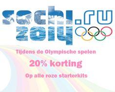 Tijdens de Olympische Spelen 20% korting op alle roze starterkits. Kijk snel op E-Rokershop http://www.e-rokershop.nl/E-Roker-Starterset Elektrisch roken begint bij E-Rokershop.nl