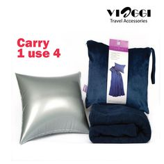 """Introducing the 4 in 1 #Blanket, the ultimate comfort companion for people on the go. It is made from buttery soft fleece and will cover you from chin to toes Measuring a generous 45""""x60"""" this is one blanket that won't leave you out in the cold. Buy it on www.viaggitravelworld.com"""
