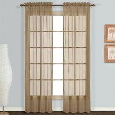 United Curtain Monte Carlo Voile Curtain Panel Pair Taupe - MC284TP