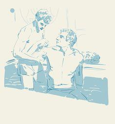 #spartacus #bath #men #care #bathing #drawing #sketchbook #sketch #digitaldrawing #mischief Spartacus, Tao, Bathing, Sketch, Princess Zelda, Drawings, Water, Instagram Posts, Fictional Characters