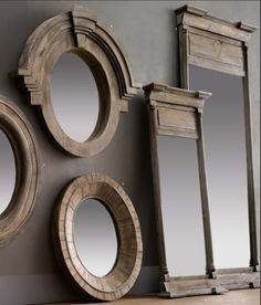 Cool recycled wood for mirrors