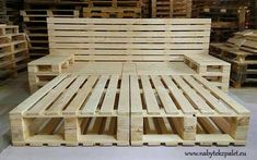 Pallet bed project with storage space. Pallet bed project with storage space. Pallet bed project with storage space. Pallet bed project with storage spa Wooden Pallet Beds, Pallet Bed Frames, Diy Pallet Bed, Diy Pallet Furniture, Diy Pallet Projects, Pallet Ideas, Pallett Bed, Garden Projects, Bed Pallets