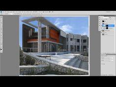 ▶ Photoshop Postproducción Como Usar Capas de Ajuste - YouTube 3ds Max Tutorials, Architecture Visualization, 3d Max, Photoshop Tutorial, Lightroom, Youtube, Presentation, Mansions, House Styles