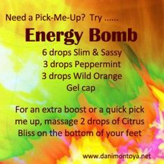 When you need a quick burst of energy try this Essential Oil Energy Bomb made from doTERRA Oils - Living Naturally!