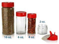 SPICE JARS - GLASS BOTTLES