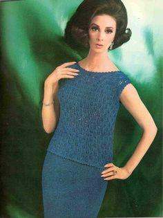 Knit Pattern  Lace Evening Wear Skirt Suit by suerock on Etsy, $3.99