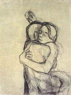 Käthe Kollwitz / I can still feel you Life Drawing, Figure Drawing, Painting & Drawing, Karl Schmidt Rottluff, Kathe Kollwitz, George Grosz, Max Ernst, Drawing People, Hugs