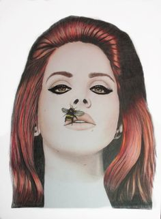 Lana Del Rey Coloured Pencil Fine Art by VeronicaCrockford on Etsy, $25.50