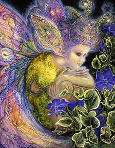 """Fairy Ear Wings 1"" par Josephine Wall"