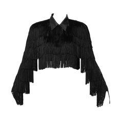 Norma Kamali Omo Vintage 1980s Black Fringe Jacket   From a collection of rare vintage jackets at https://www.1stdibs.com/fashion/clothing/jackets/