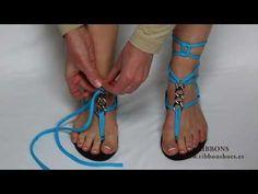 ▶ Diseños de sandalias Ribbon shoes - YouTube