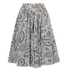 Paisley Printed Cotton Circular Skirt