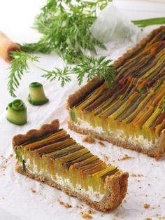 Quelle tarte ! (aux légumes) recette en italien mais je vais vite la traduire et la tester.