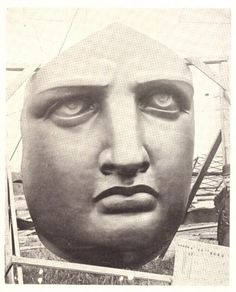Face of Statue of Liberty uncrated on Liberty Island (Bedloe's Island) in 1885 ☆ Vintage Photographs, Vintage Photos, Statue Of Liberty Drawing, Liberty Island, Lower East Side, Our Lady, Historical Photos, Looking Back, Behind The Scenes
