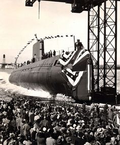 Jan. 21, 1954, the first atomic submarine, the USS Nautilus, is launched at Groton, Connecticut. Captain Nemo immediately resigned his commission, took a voyage to the bottom of the sea and later joined Alan Quartermain in order to save the world.