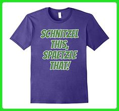 Mens Schnitzel This, Spaetzle That T-Shirt Funny German Food Small Purple - Food and drink shirts (*Amazon Partner-Link)