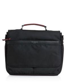 Ted Baker Tograin Faux Leather-Trim Messenger Bag | Bloomingdale's