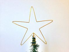 Christmas Tree Topper aluminum star by SatarasWireCrafts on Etsy