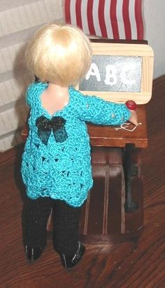 ABC school outfit for 7-8 inch dolls