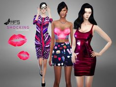 MFS Shocking Collection by MissFortune at TSR via Sims 4 Updates