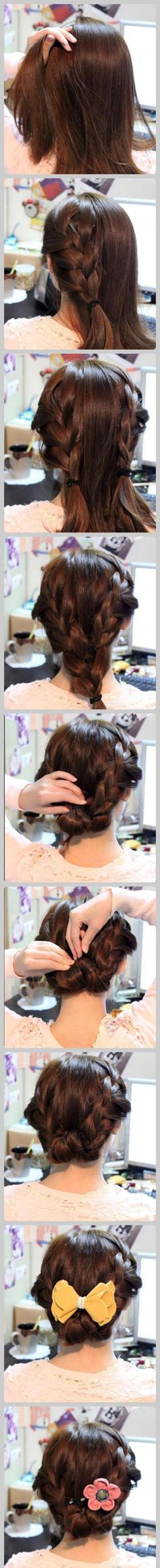 I did this yesterday. It's uber easy (even for a hair moron like me!) and it looks lovely :-)