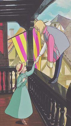 Studio ghibli,howl's moving castle,hayao miyazaki in 2020 Howls Moving Castle Wallpaper, Howl's Moving Castle, Studio Ghibli Art, Studio Ghibli Movies, Hayao Miyazaki, Totoro, Animes Wallpapers, Cute Wallpapers, Personajes Studio Ghibli