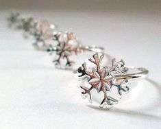 """I added """"Snowflake Ring Frozen in Silver Sterling Silver by ElunaJewelry"""" to an #inlinkz linkup!https://www.etsy.com/listing/170771166/snowflake-ring-frozen-in-silver-sterling?ref=shop_home_active_24"""