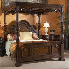Fine Furniture Design Villa Cascina California King Canopy Bed - 950-760C+761+762+763+766P