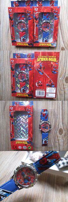 2015 NEW 50pcs/lot Spiderman watch kids fashion cartoon watch with box Cute Lovely boy