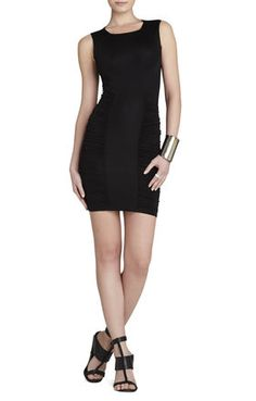 And again- but in Black. Renee Side-Ruched Center-Panel Dress
