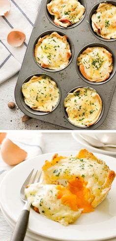 Croque Madame Muffin Tin Toastie Cup - the famous French grilled ham and cheese made in a muffin tin. Fresh new idea for using up leftover ham!