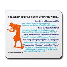 Nancy Drew Mousepad