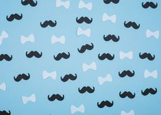 Composition of bow ties and mustaches Baby Birthday Themes, Boy Birthday Parties, Watercolor Paper Texture, Floral Watercolor, Paper Background, Background Patterns, Valentine Doodle, Memphis Pattern, Christening Invitations