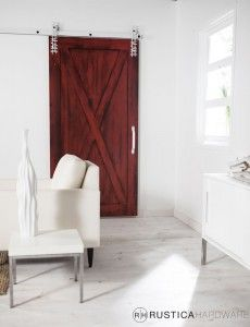 Full X Barn Door to close off area between the living room and the bedrooms!